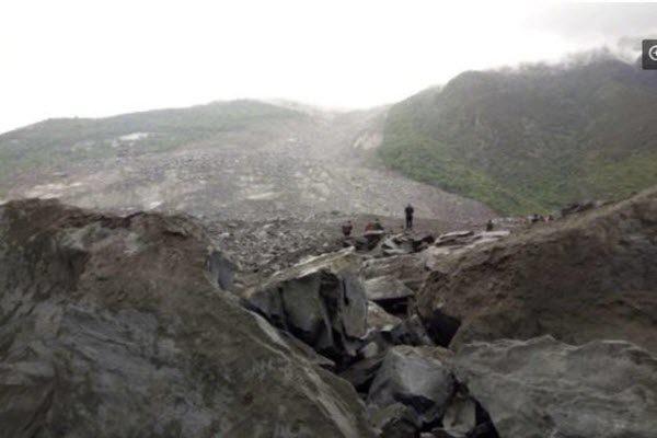 四川阿坝州茂县新磨村发生山体滑坡,141人被埋。(网络图片)