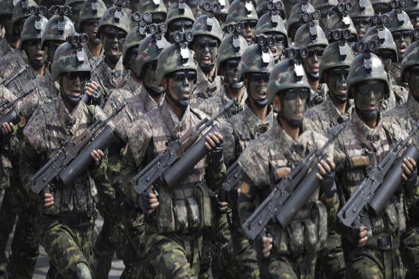 圖中為朝鮮特種兵部隊(APviaYonhap)。