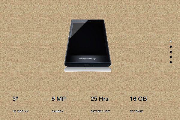 Blackberry手机(图片来源:网页截图)