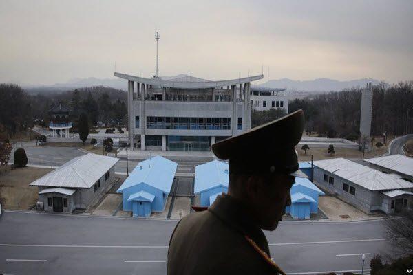 位于板门店的韩朝非军事区 AP