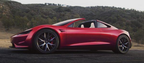 特斯拉公司11月16日新发布的电动跑车Roadster。(Tesla)
