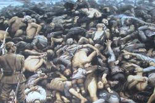 1937年12月13日起日�在南京�M行了40多天的大屠杀