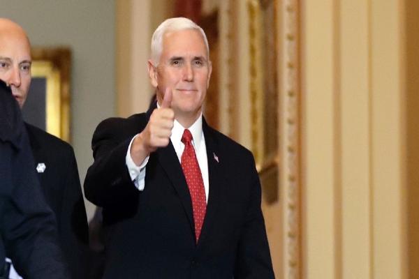 图中为美国副总统彭斯(美联社图片)。