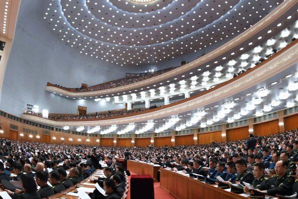 中共人大会议现场。(网络图片)