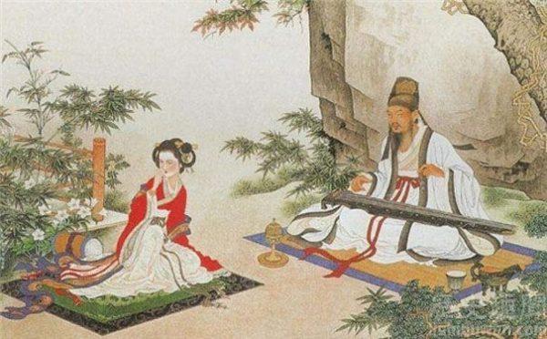 苏轼和妻子弹琴赏景 (网络图片)