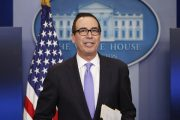 美國財政部長姆欽(Steven Mnuchin) 。(AP Photo/Pablo Martinez Monsivais)