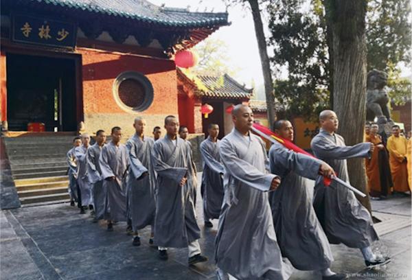 少林寺举行升旗仪式(网络图片)