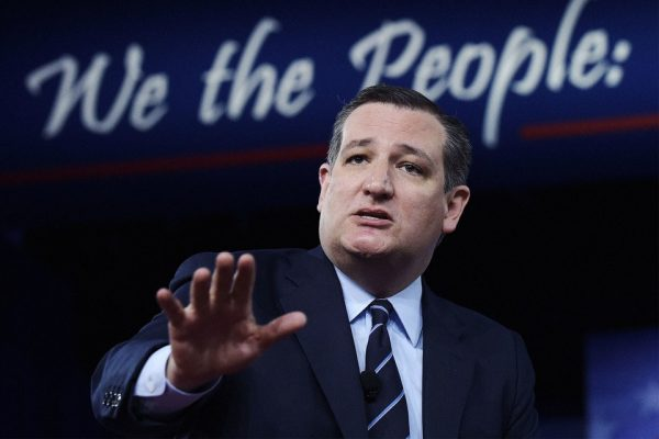 美國國會參議員特德•克魯茲(Ted Cruz)。(Photo from AP/REX/Shutterstock)