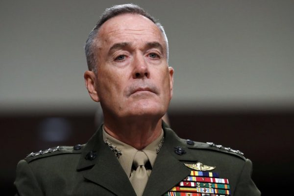 美军参谋长联席会议主席邓福德将军(Gen. Joseph Dunford). (AP photo/Jacquelyn Martin, file)