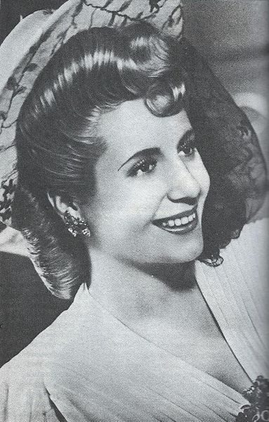 Eva Perón, photo publicitaire, vers 1943. (圖片:Torsade de Pointes/wikimedia)