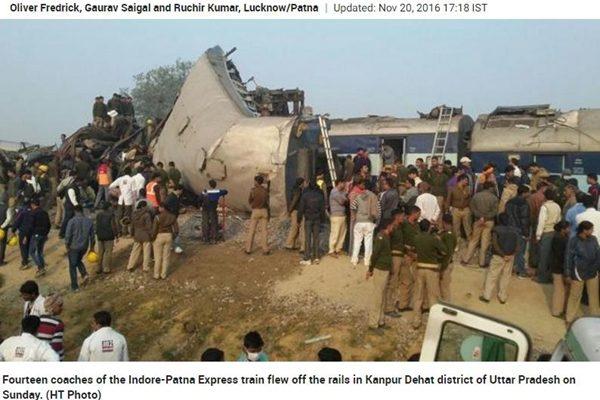 印度惨烈铁路灾难 罹难者攀升致120人