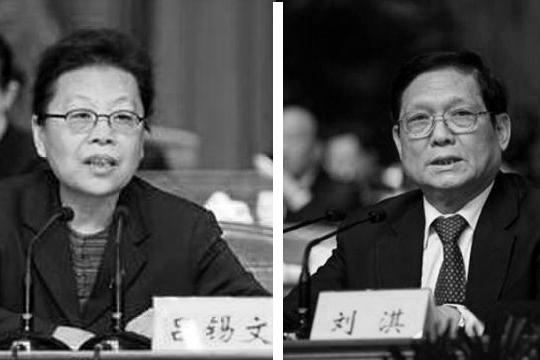 吕锡文(左)、刘淇(右)。(图片合成)