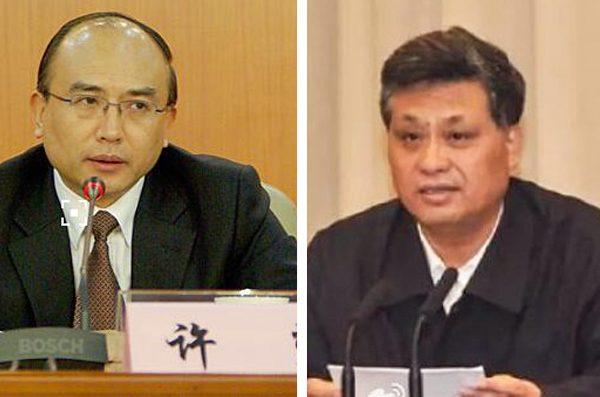 许勤(左)转任深圳市委书记,马兴瑞(右)出任广东代理省长。(网络图片)