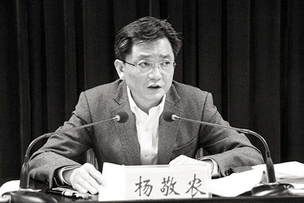 中共安徽省秘书长杨敬农被调查。(网络图片)