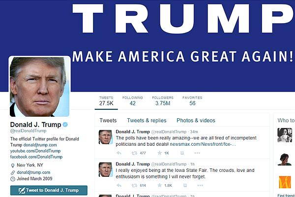 川普上任后会继续使用推特