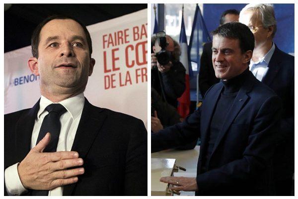 法国大选社会党首轮初选 哈蒙与瓦尔斯获胜进入二轮角逐