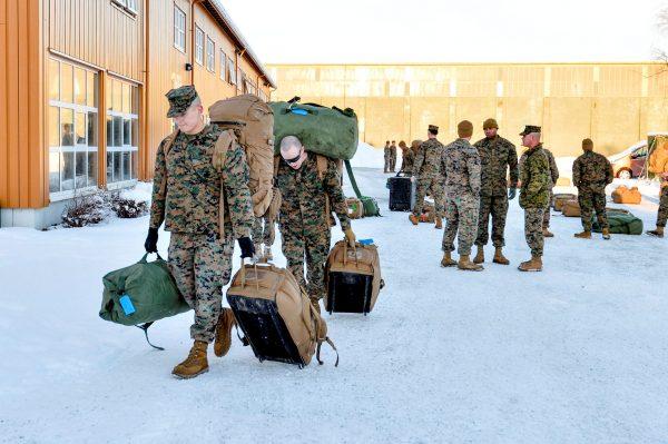二战后首次 美陆战队三百士兵部署挪威