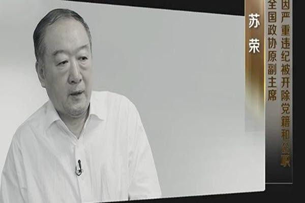 苏荣在2016年的中纪委制作节目中悔罪