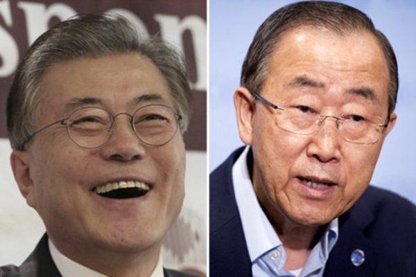 韩总统大选 文在寅潘基文民调支持率差距缩小