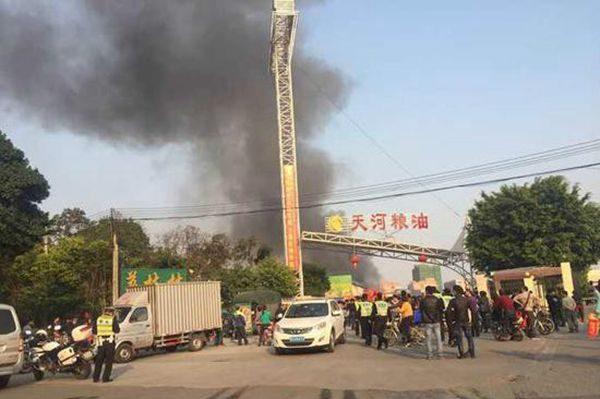 广州黄村天河粮油市场火灾损失惨重