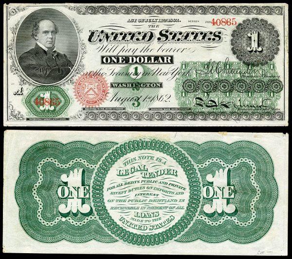 美国南北战争第八回第二节:诞生于南北战争中的美元钞票和美国国家格言