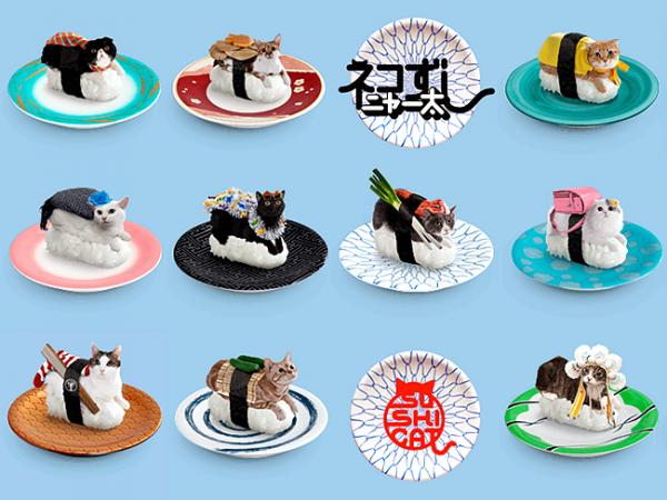 奇葩美食——当猫咪被盛装打扮放在寿司上