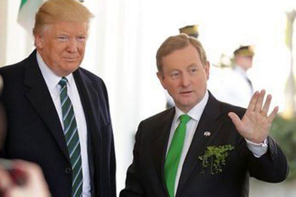 圣帕特里克节前 美国总统川普与爱尔兰总理肯尼会面
