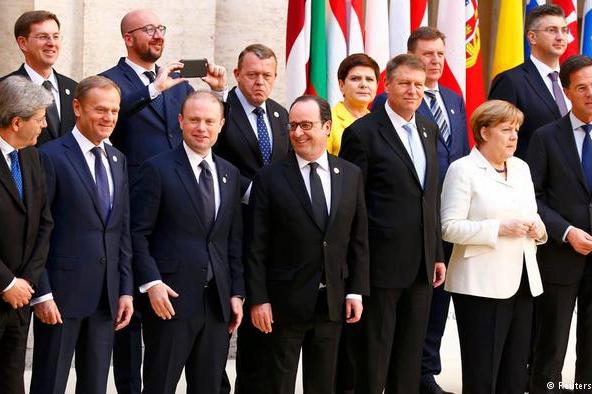 欧盟首脑庆《罗马条约》60周年 齐心协力应对挑战