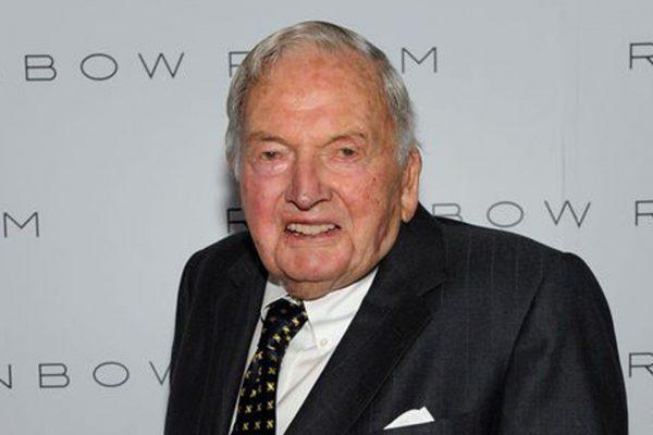 纽约亿万富翁、慈善家、洛克菲勒家族现存最年长成员大卫?洛克菲勒(David Rockefeller)去世。(网络图片)