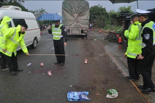 广西一大货车车重刹不住高速撞小学生3死2伤