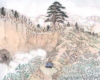 丘处机与千年古松的故事