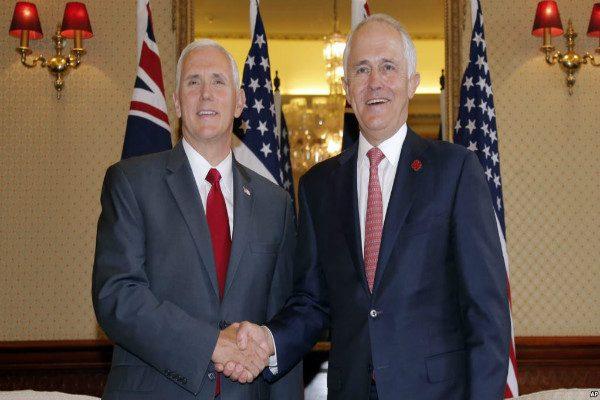 彭斯访澳:强调美澳同盟和安全问题