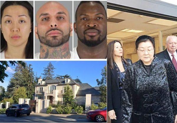 李凡妮被捕的豪宅及李继红 网络图片
