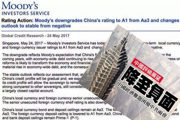 面对穆迪罕见调降评级 中国难不起波澜