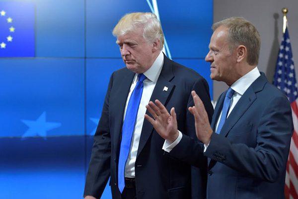 川普访欧盟清晰释放一致反恐 对俄罗斯:没共识