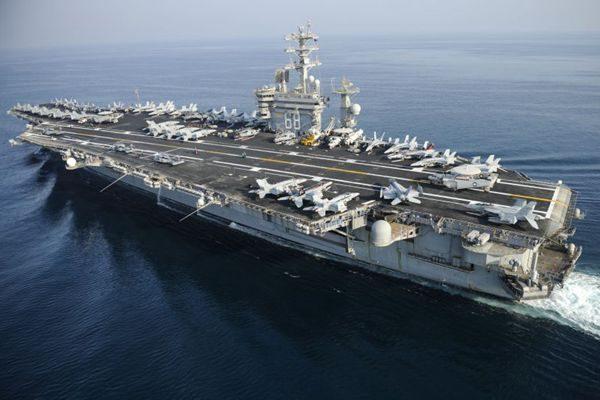 """对朝备战升级 美""""尼米兹""""号航母赴西太平洋"""