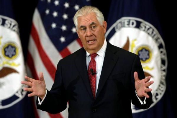 """美国务卿蒂勒森:""""美国第一""""是美国国家安全和经济繁荣第一"""
