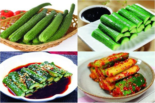 韩式清凉美食–黄瓜水泡菜