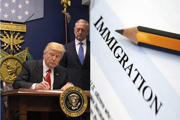 川普促严格执法 禁新移民五年内享福利