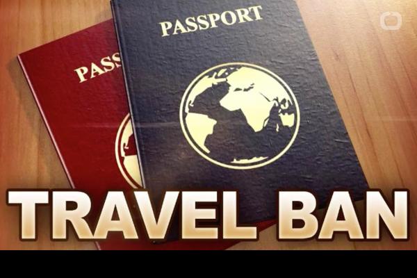 图中为川普总统的六国旅游禁令(网络图片)。