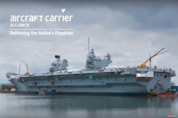英軍史上最大航母首次試航 「伊麗莎白女王號」可服役五十年