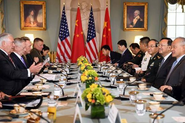 美中举行首轮外交安全对话 美敦促中方对朝加大施压