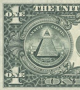 """一美元背面的""""全能的眼睛"""""""