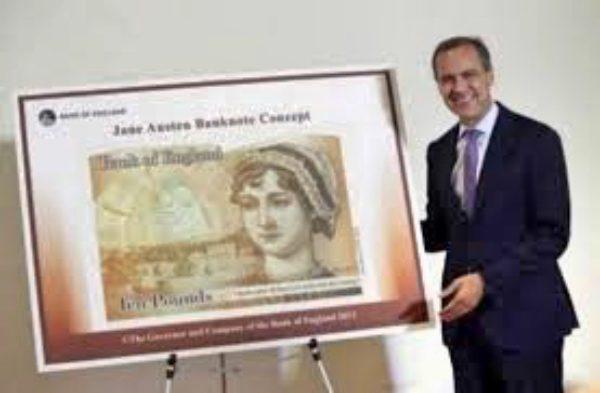 新版10英镑肖像人物:《傲慢与偏见》简·奥斯汀