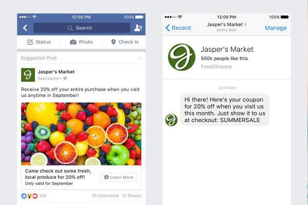 Facebook Messenger广告(图片来源:网路)