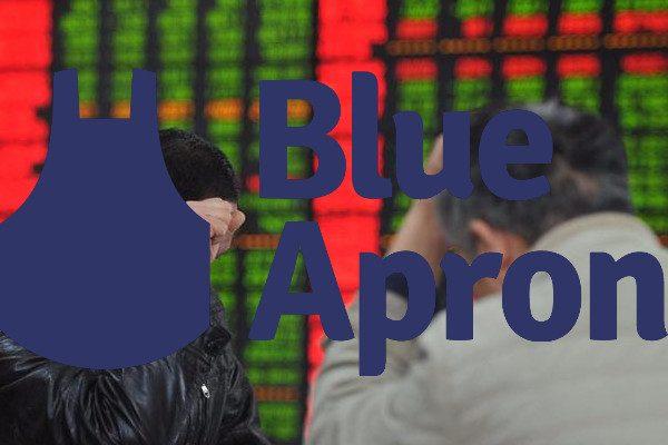 Blue Apron股价下跌(图片来源:网路)