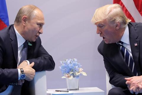 G20峰会上,川普与普京首次面对面会谈