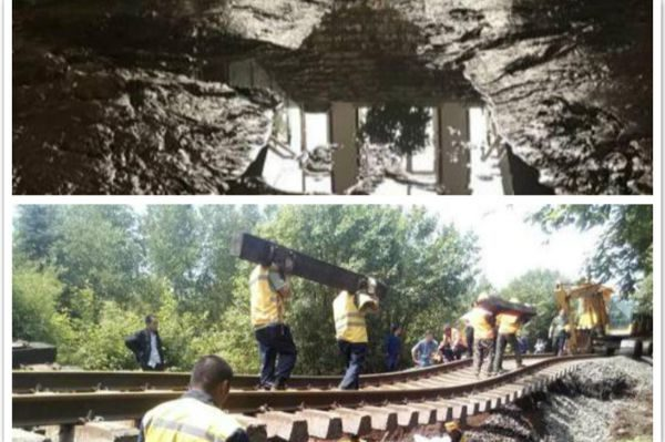 吉林永吉县水灾铁路冲毁,地下室淤泥