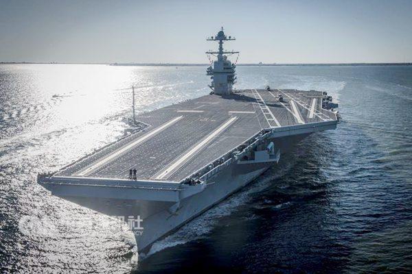 """美国史上造价最贵核动力航母""""福特号""""正式服役"""