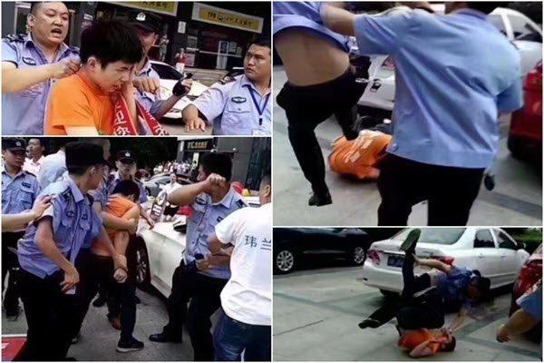 四川南充城管围殴学生暑期工。(网络图片)